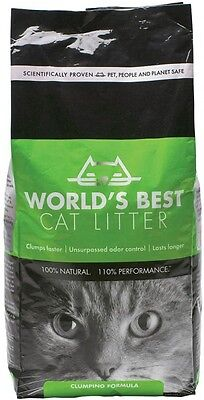 Natural Ecological Gentle Dust-Free World's Best Clumping Cat Litter, 2 x 12.7kg
