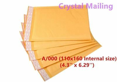 100 A/000 A000 Small Padded Bubble Lined Postal Envelopes MAIL 110 x 160mm 4U