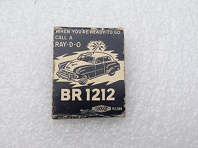 Old 1950's Radio Cabs Portland Oregon Matchbook Advertising Chevrolet Car Chevy