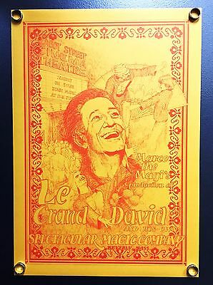 """Le Grand David Poster (16X22.5"""") From The World Record Setting Magic Show"""
