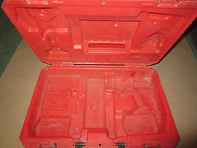 """Milwaukee Red Plastic Storage Carrying Case 0822-24 18V 1/2"""" Drill Driver KIT"""