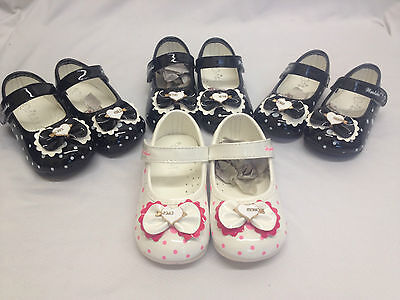 4x Infant Girls School Shoes Job Lot  Wholesale Clearance Bulk LK  Patent  Bow
