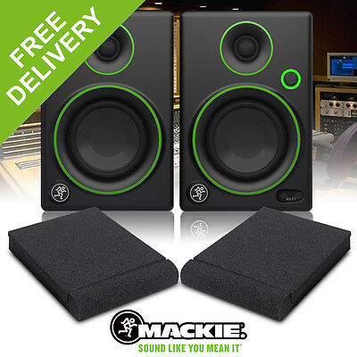 "Pair Mackie CR3 3"" Inch Active Powered Reference Studio DJ Monitors Speakers 50W"