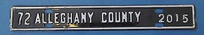 1972 Alleghany County license plate from Virginia