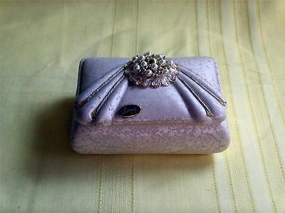 """Capodimonte Italy Jewelry Box """"beauty"""" W/gorgeous Ornament Beads On The Lid Vnt."""