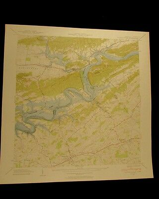 Russellville Tennessee vintage 1958 original USGS Topographical chart