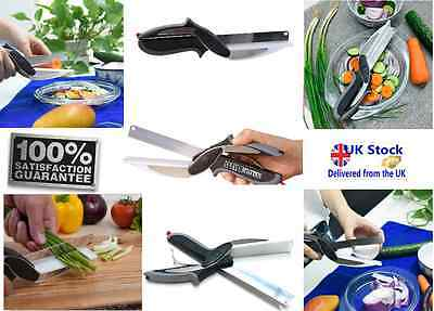 Clever Scissors Cutter 2-in-1 Cutting Knife Board As Seen On TV Free shipping