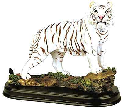 White Tiger Collectible Wild Cat Animal Decoration Figurine Statue