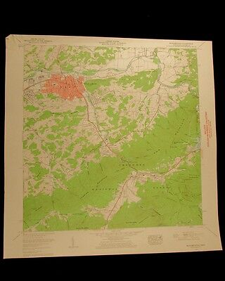 Elizabethton Tennessee vintage 1962 original USGS Topographical chart