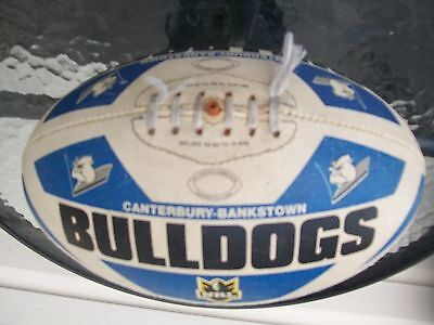 vintage nrl football rugby league rubber synthetic ball canterbury bulldogs