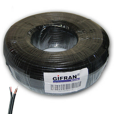 Coaxial cable video and power supply Coil RG 59 75 ohm of 100 M cameras
