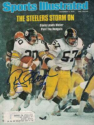 Rocky Bleier Autographed Pittsburgh Steelers Sports Illustrated 12/6/76