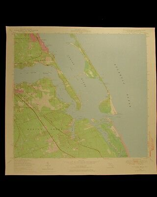 St Lucie Inlet Florida vintage 1973 original USGS Topographical chart