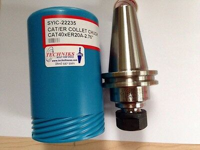 Techniks Cat 40 X Er20A-2.76 Collet Chuck Holder