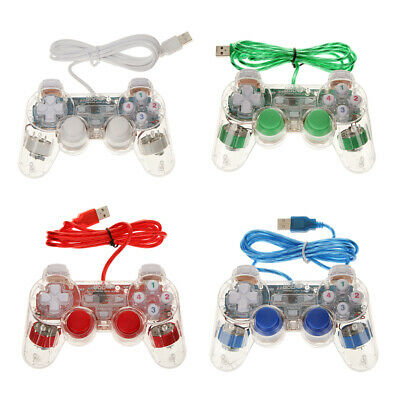 USB 2.0 Dual Vibration Shock Wired Gamepad Controller Joystick for PC Window 7