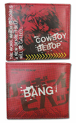Cowboy Bebop Spike Large Bi-Fold Wallet ~ Officially Licensed ~ BRAND NEW