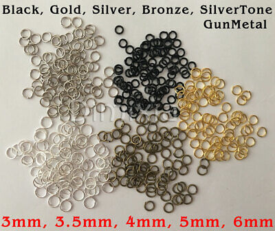 100x Silver Open Jump Rings Split Ring Round Findings Jewelry Making 5mm DIY