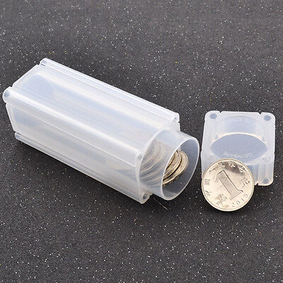 Coins Storage Tubes Square Coin Holder Propene Polymer Coin Safe Portable Clear
