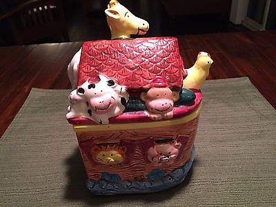 Noah's Ark Ceramic Cookie Jar-Express Productions-Mint-Free Shipping