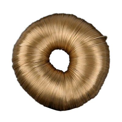 Blonde Hairdressing Hair Donut Ring Bun Shaper Styler KF