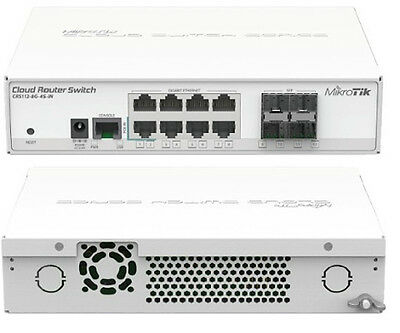 Mikrotik - Cloud Router Switch, 8 porte 10/100/1000, 4 SFP (Art.CRS112-8G-4S-IN)