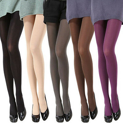 96917881986 Thicken Women Solid Color Footed Stretch Tights Opaque Pantyhose Stockings  Socks