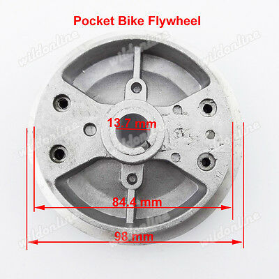 Pocket Bike Flywheel For 47 49cc 2 Stroke ATV Quad Engine Minimoto Mini Bike