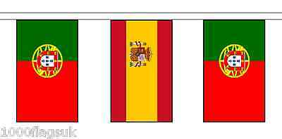 Spain & Portugal Polyester Flag Bunting - 5m with 14 Flags