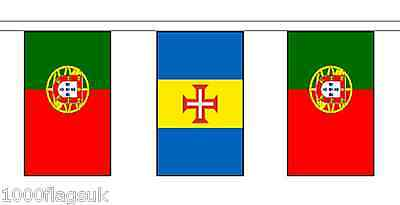 Portugal Madiera & Portugal Polyester Flag Bunting - 5m with 14 Flags