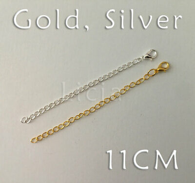3/5 Gold Silver Plated Chain Extender Necklace Bracelet Extansion Lobster Clasp