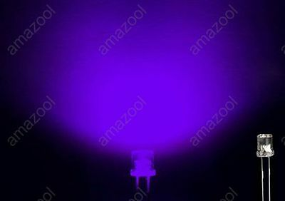 Back To Search Resultselectronic Components & Supplies United 50pcs 5mm Light Uv Purple Straw Hat Wide Angle Ultraviolet 395nm 400nm Transparent 5 Mm Light-emitting Diode Led Lamp Buy Now Active Components
