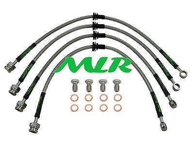 Toyota Mr2 & Turbo Sw20 Aeroquip S/steel Braided Brake Lines Hoses Pipes Mlr.vb