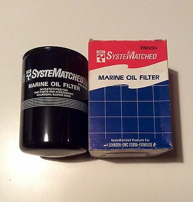 NEW OMC Johnson Evinrude Oil Filter Sterndrive Cobra Mercruiser 502904 803470