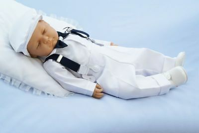 Baby Boy Christening Baptism Pageboy Formal Smart Outfit with Hat  0-18M