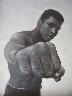 Muhammad Ali 28x16  painting NOT print Framing Avail.Boxing art Tyson legend