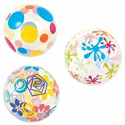 "Large Beach Ball Printed 20"" 51cm Inflatable Ideal For Holidays"