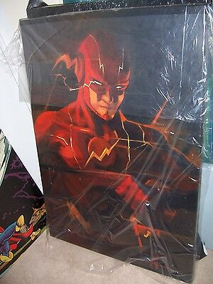 Flash 30x20 oil painting. Framing Avail Batman Justice League Superman
