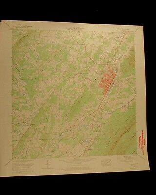 Etowah Tennessee vintage 1970 original USGS Topographical chart