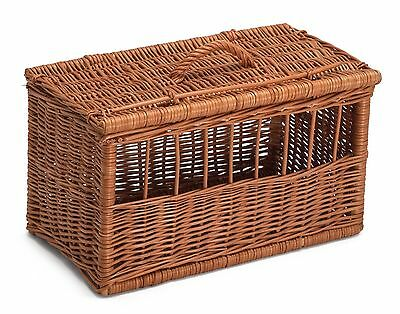 Extra Large Wicker Cat Dog Pet Carrier Basket Chemicals Free Durable Hand Made