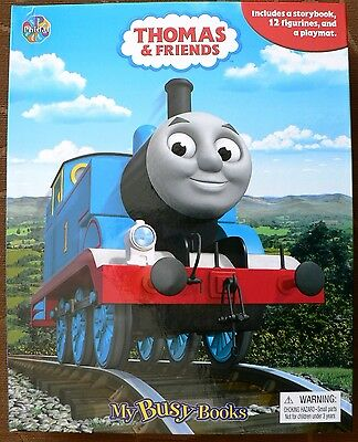 Thomas The Tank & Friends My Busy Books Includes Story, Playmat,12 Figures New