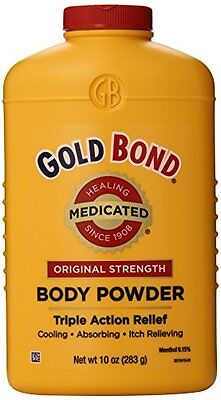 4 Pack - Gold Bond Body Powder Medicated 10 oz Each