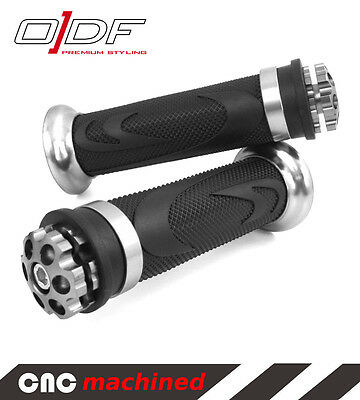 """Hand Handle Bar Grips MBK Nitro, Naked, Ovetto, Sorriso """"RS1"""", silver"""