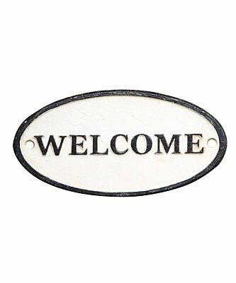 HomArt Cast Iron Welcome Sign