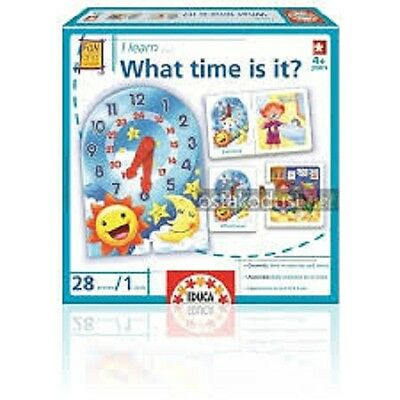 EDUCA I learn What time is it? FLASH CARDS LEARNING CARD GAME