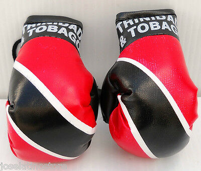 """TRINIDAD & TOBAGO Mini Boxing Gloves 3.5 x 2"""" These Are the Best Ornament Only!"""