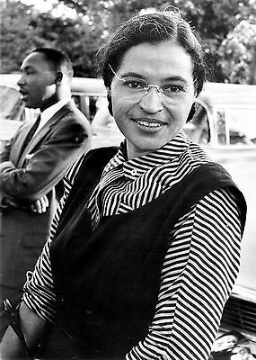 Rosa Parks with Dr. Martin Luther King Jr.-She Began Negro Bus Boycott-1955