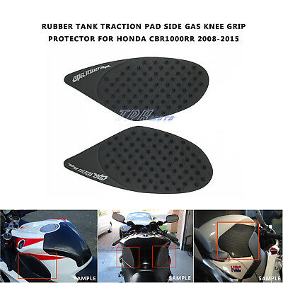 3M Rubber Tank Traction Pad Side Gas Knee Grip Protector For CBR1000RR 2008-2015