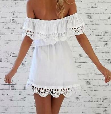 Summer Dress Casual Sleeveless Mini Lace Evening Cocktail Party Women