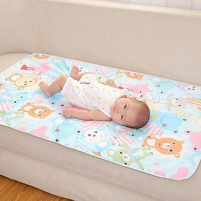 Reusable Baby Infants Waterproof Urine Bedding Diapering Nappy Cover Change Pad