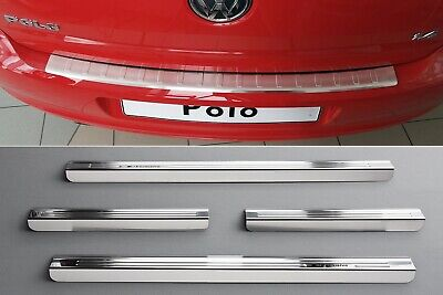 Door Sill and Loading Area Protector compatible with VW POLO 5 6C Built 2014